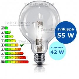 Lampada alogena Halo Globe 42W E27 126 mm Wiva