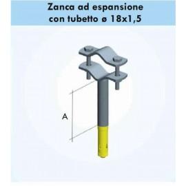 Zanca A 5 cm a espansione per fissaggio pali antenna   a muro zel002