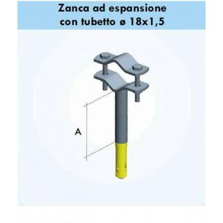 Zanca A 10 cm per fissaggio pali antenna a muro zel0003