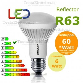 Lampada a led reflector R63 E27 6 W Digilamp