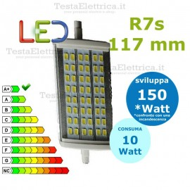 Lampada Led R7s 117 mm 10 W Digilamp