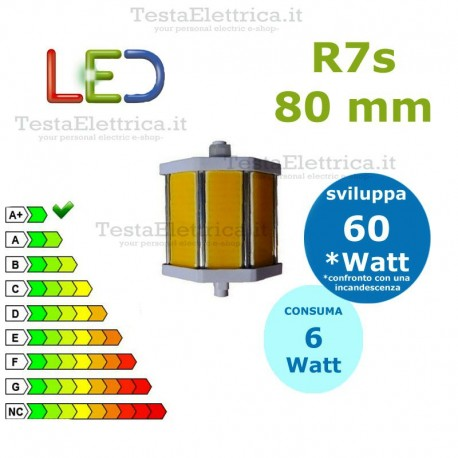 Lampada Led R7s 80 mm 6 W Digilamp