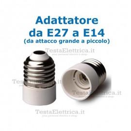 Adattatore da E27 a E14