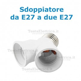 Adattatore doppio E27