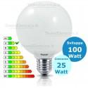 Lampada al Neon Globo E27 25 Watt Leuci