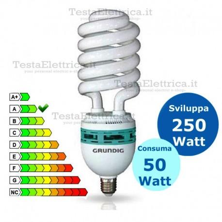 Lampada al Neon 50 Watt E27 6500k Spirale Grunding