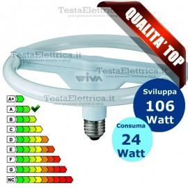 Lampada al Neon Circolare E27 24 Watt Diskline Wiva