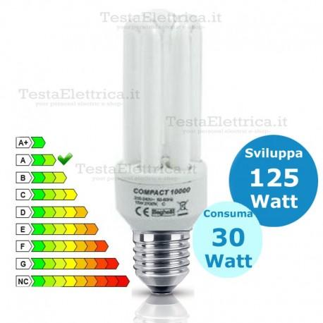 Lampada al Neon Tubolare  E27 30 Watt  Compact 10000 Beghelli