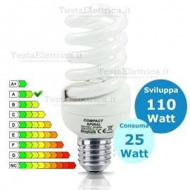 Lampada al Neon Spirale E27 25 Watt Compact 10000 Beghelli