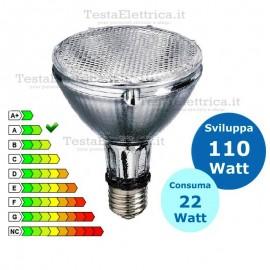 Lampada al Neon PAR 30 22 Watt E27 6500k Dgk