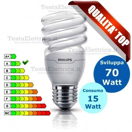 Lampada al Neon Spirale E27 15 Watt  Twister Philips