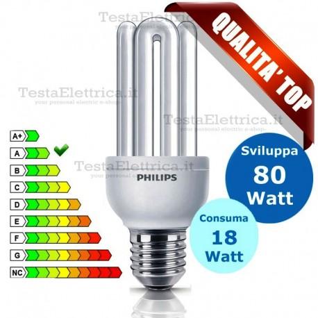 Lampada Tubolare Al Neon Genie 18 Watt E27 Philips