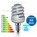 Lampada al Neon Spirale E14 11 Watt  Compact 10000 Beghelli