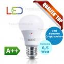 Lampadina a led  con sensore crepuscolare goccia E27 6,5 Watt Gbc