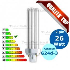 Lampada al Neon 26 Watt 2 pin Attacco G24d-3 FL D Wiva