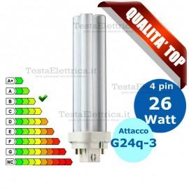 Lampada al Neon 26 Watt 4 pin  Attacco G24q-3 FL D Wiva