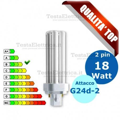 Lampada al Neon 18 Watt 2 pin  Attacco G24d-2 FL D Wiva