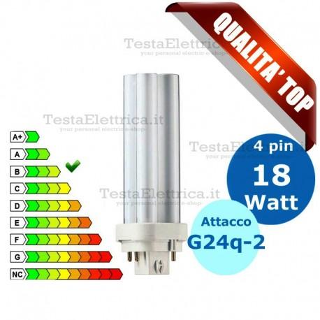 Lampada al Neon 18 Watt 4 pin  Attacco G24q-2 FL D Wiva