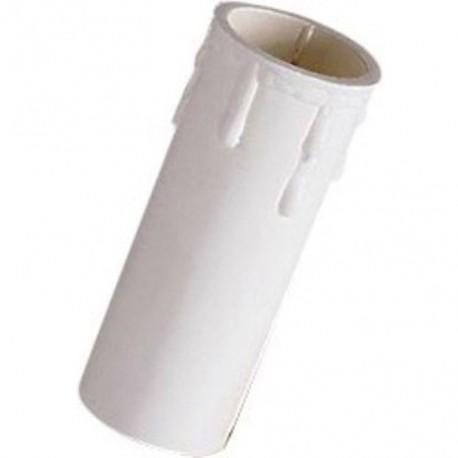 Portalampada a candela E14 bianco o avorio completo di adattatore