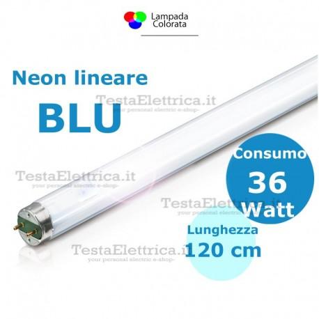 Tubo a neon coloratoBlu 120 cm 36 watt T8 Standard