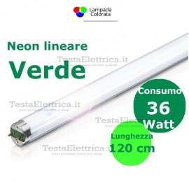 Tubo a neon colorato Verde 120 cm 36 watt T8 Standard