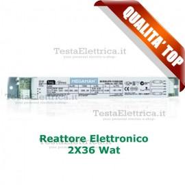 Reattore elettronico 2X36 watt  per fluorescenti Megaman