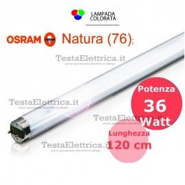 Tubo a neon 120 cm L36W/76 T8 Natura