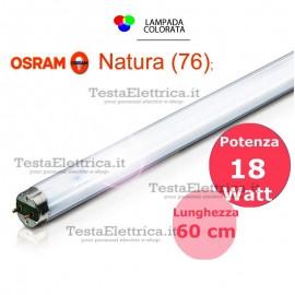 Tubo a neon 60 cm L18W/76 T8 Natura