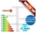 Lampada al Neon Dulux S/E 11W7840 4P Osram o Leuci