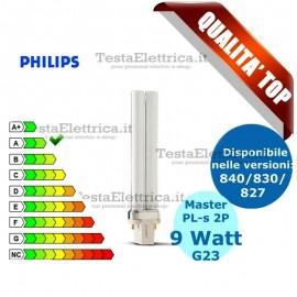 Lampada al Neon PL-s 9W 2P Master Philips