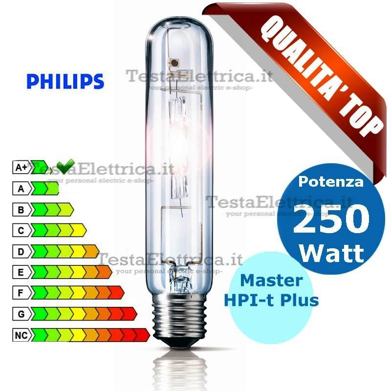Lampada ioduri metallici 250 watt 645 hpi t plus master - Philips lampade esterno ...