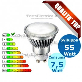 Lampada led GU10 220V 7,5 Watt MR16 Lampo