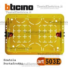 Scatola da incasso portafrutti 3 moduli 503E bticino