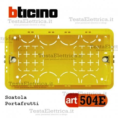 Scatola da incasso portafrutti 3 moduli 504E bticino