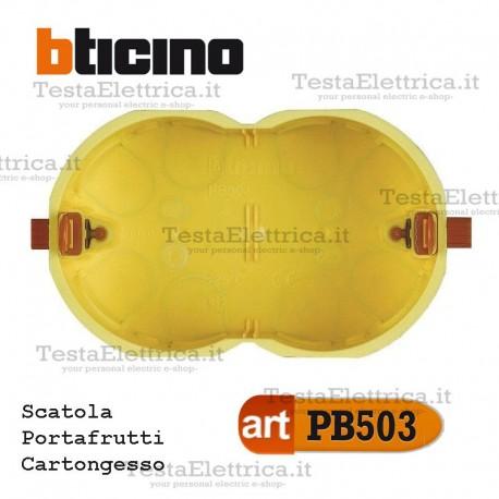 Scatola da incasso cartongesso portafrutti 3 moduli PB503E bticino