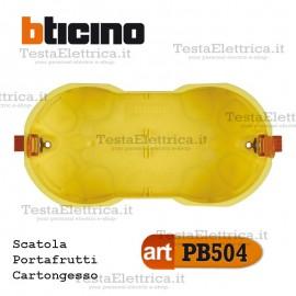 Scatola da incasso cartongesso portafrutti 4 moduli PB504E bticino