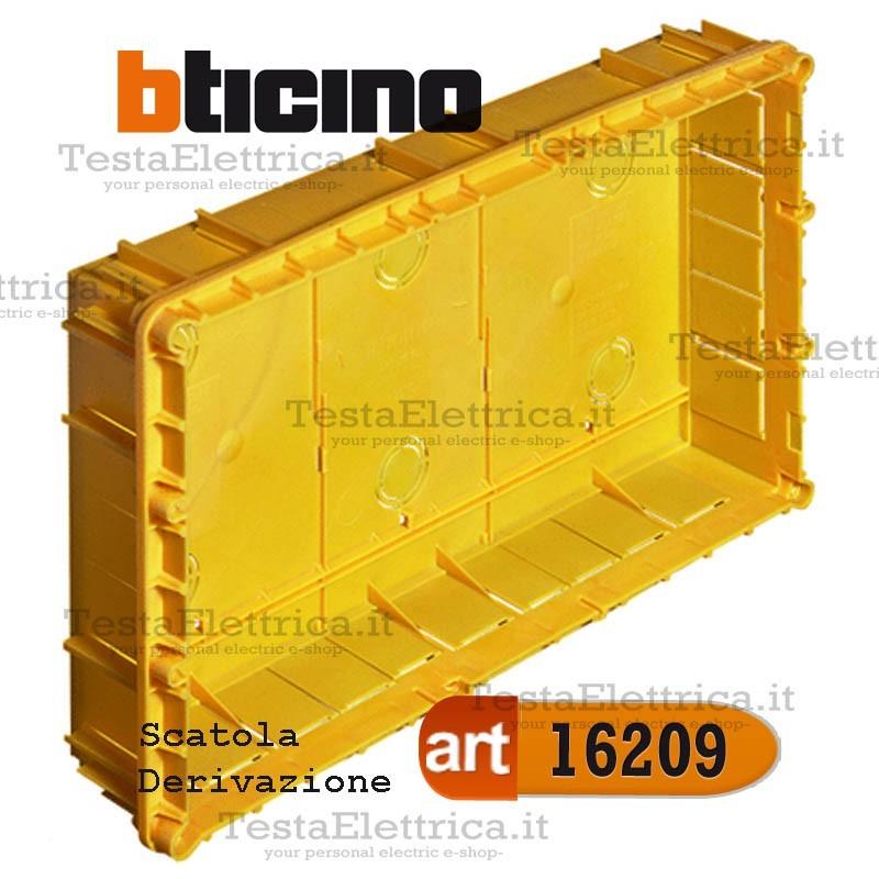 BTICINO 16209 Scatola di derivazione da incasso 364x218x69mm con coperchio