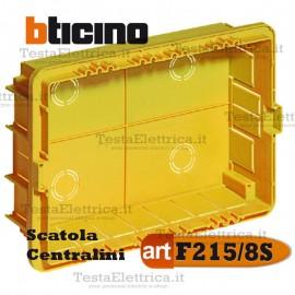 Scatola F215/8s da incasso per centralini 8 moduli Bticino