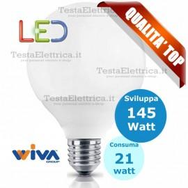 Lampadina a led Globo E27 21 Watt Pro Deco D120 Wiva