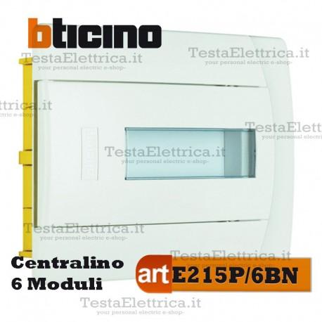 Centralino per cassette incasso 6 moduli din  E215P/6BN Bticino