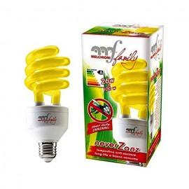 Lampada al Neon Anti Zanzare E27 25 Watt NeverZanz Melchioni