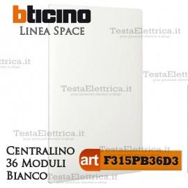 Centralino serie Space  Bianco F315PB36D3 36 moduli din per cassette incasso Bticino