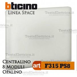 Centralino serie Space Opalino F315PS8 8 moduli din per quadri elettrici incasso Bticino