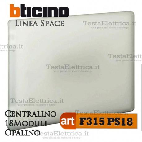 Centralino serie Space  Opalino F315PS12 12 moduli din per quadri elettrici incasso Bticino