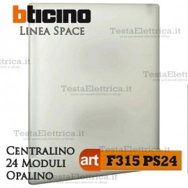 Centralino serie Space  Opalino F315PS24 24 moduli din per quadri elettrici incasso Bticino