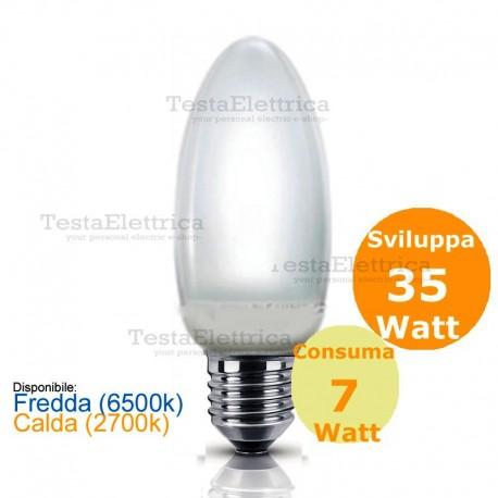 Lampada al Neon 7 Watt E27  Oliva Rosalight