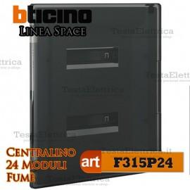 Centralino serie Space  Fumè F315P24 24 moduli din per quadri elettrici incasso Bticino