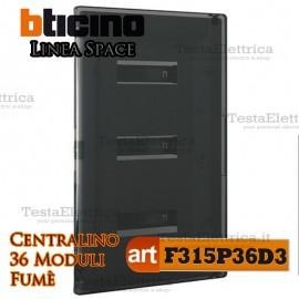 Centralino serie Space  Fumè F315P36D3 36 moduli din per quadri elettrici incasso Bticino