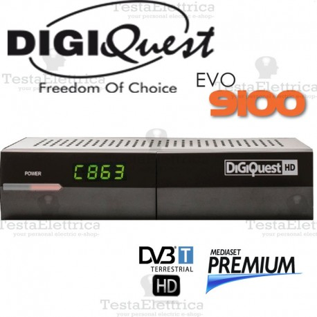 Decoder Digitale Terrestre FULL HD con lettore scheda DigiQuest