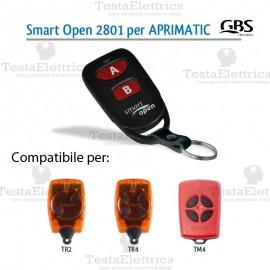 Radiocomando compatibile Aprimatic Smart Open 2801 Gbs